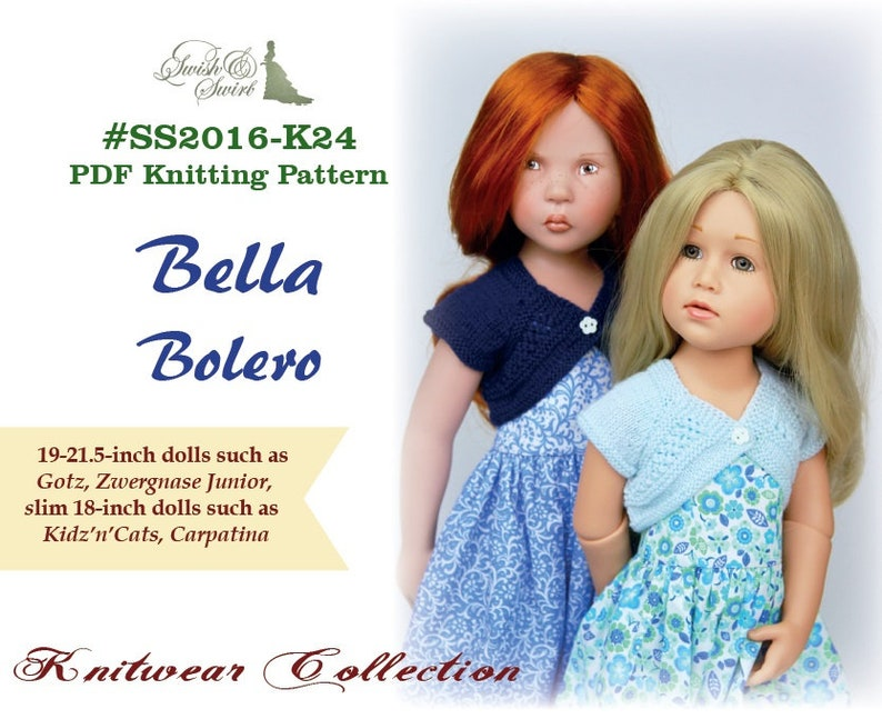 PDF Knitting Pattern SS2016-K24. Bella Bolero for image 0