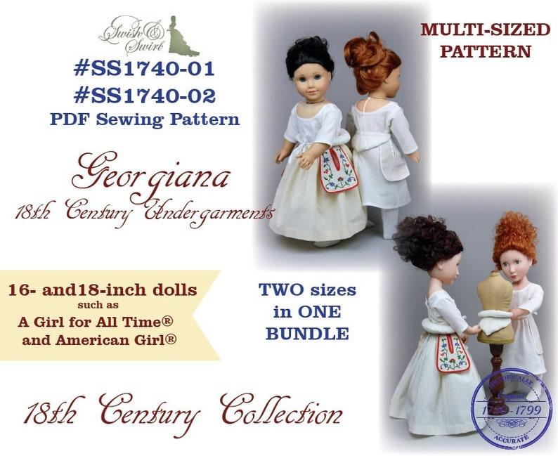 PDF Pattern Bundle SS1740-01 & SS1740-02. Georgiana 18th image 0