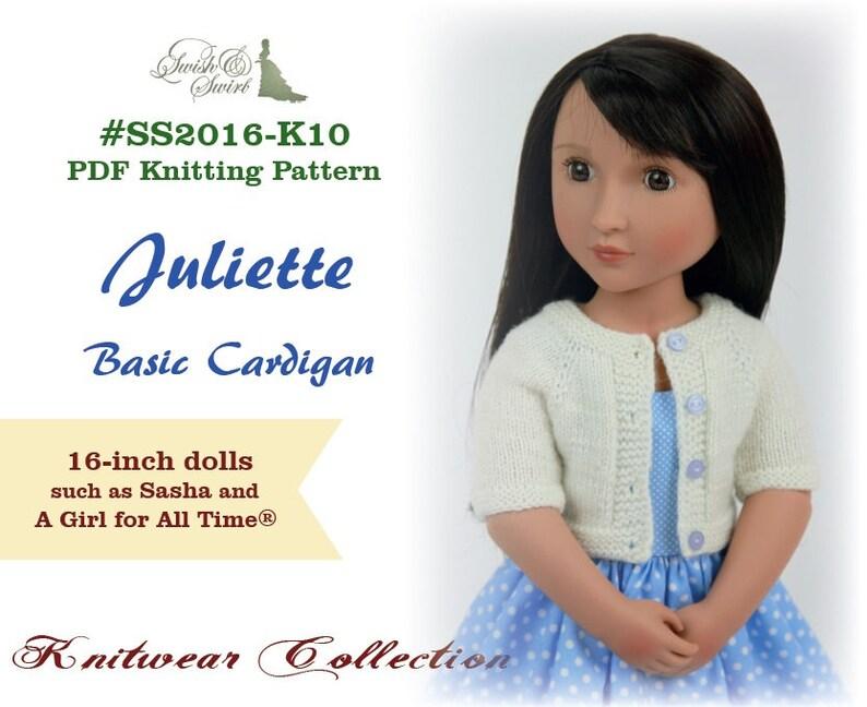 PDF Knitting Pattern SS2016-K10. Juliette Basic Cardigan for image 0