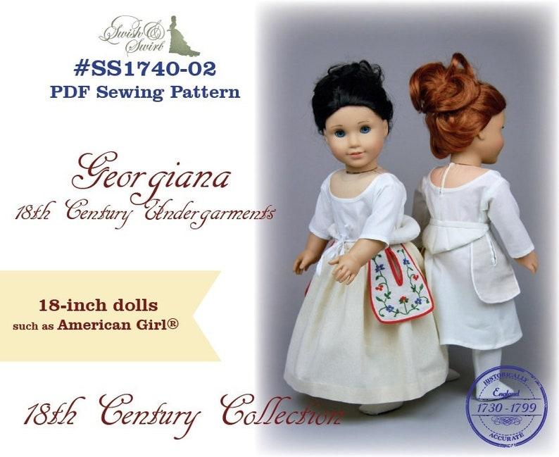 PDF Pattern SS1740-02. Georgiana 18th century undergarments image 0