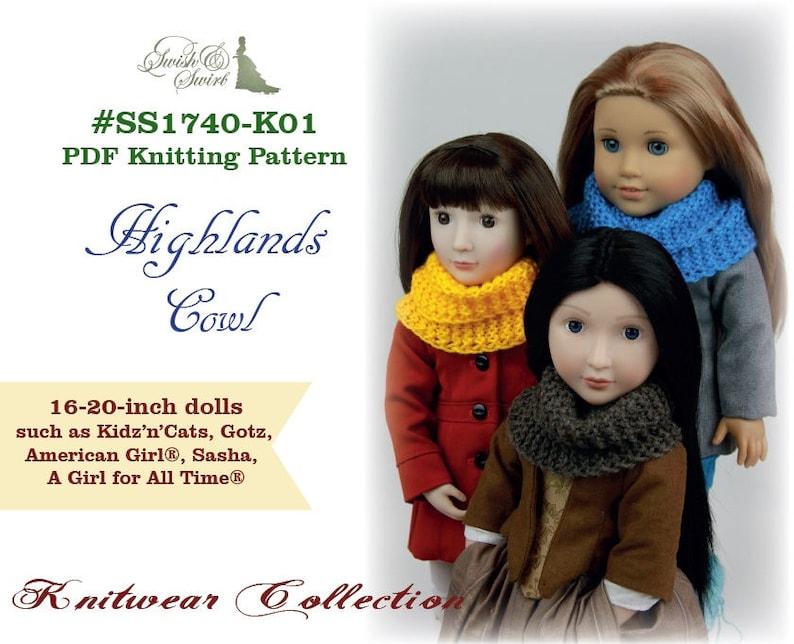 PDF Knitting Pattern SS1740-K01. Highlands Cowl for image 0