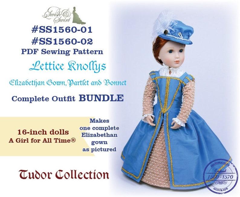 PDF Pattern Bundle SS1560-01 & SS1560-02. Lettice Knollys image 0