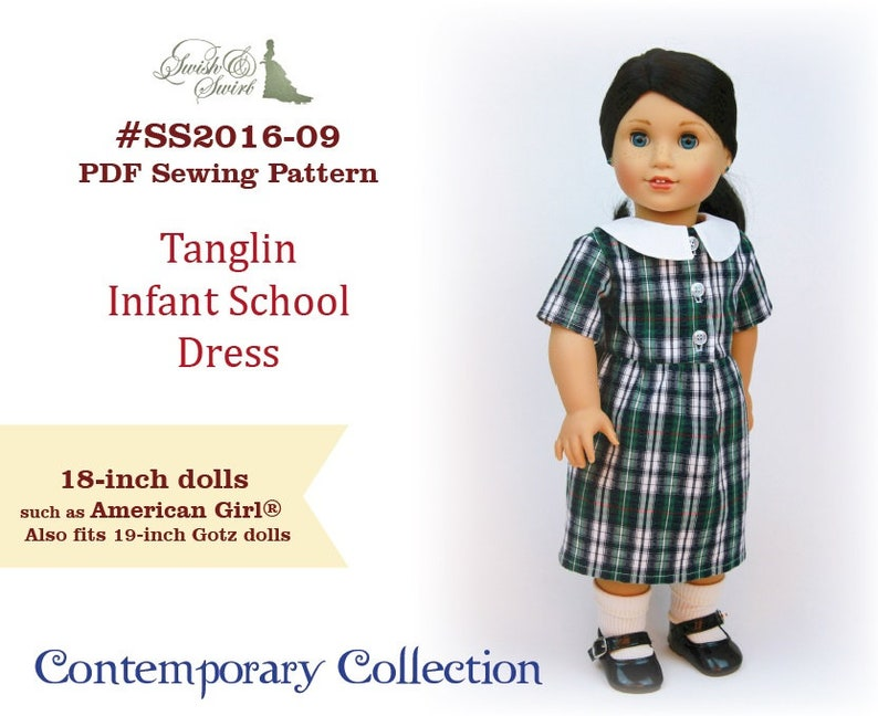 PDF Pattern SS2016-09. Tanglin Infant School Dress for image 0