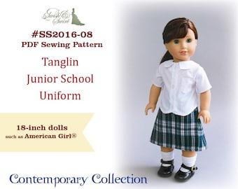 PDF Pattern #SS2016-08. Tanglin Junior School Uniform for 18-inch dolls such as American Girl®