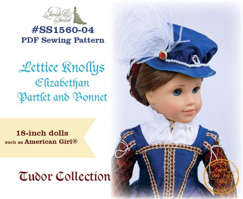 PDF Pattern SS1560-04. Lettice Knollys Elizabethan Partlet image 0
