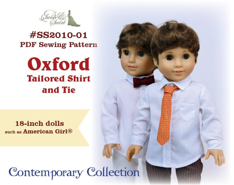 PDF Pattern SS2010-01. Oxford Tailored Shirt and Tie for image 0