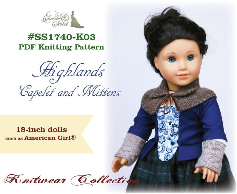 PDF Knitting Pattern SS1740-K03. Highlands Capelet and image 0