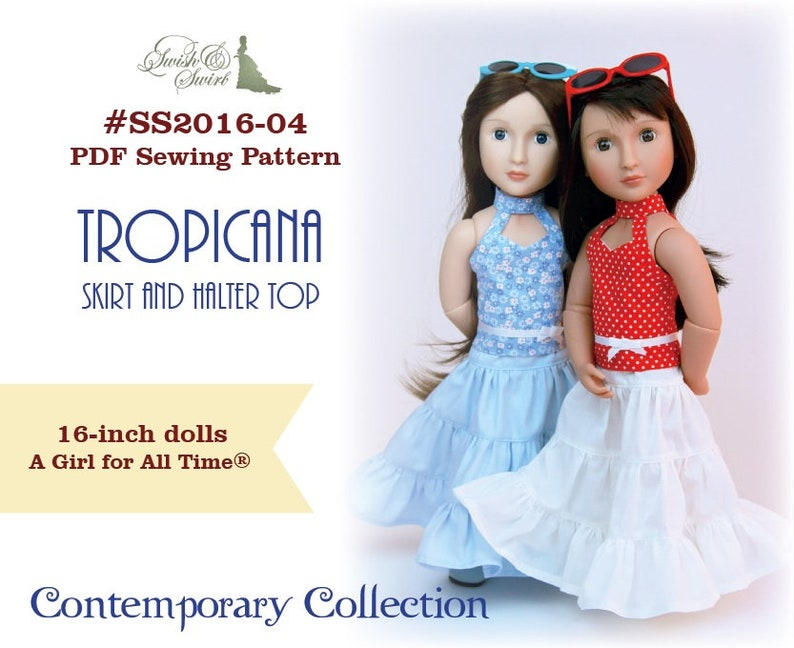PDF Pattern SS2016-04. Tropicana Skirt and Halter Top for image 0