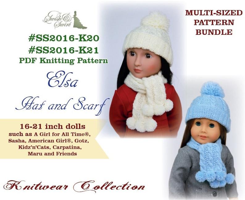 PDF Knitting Pattern BUNDLE  SS2016-K20&K21. Elsa Hat and image 0