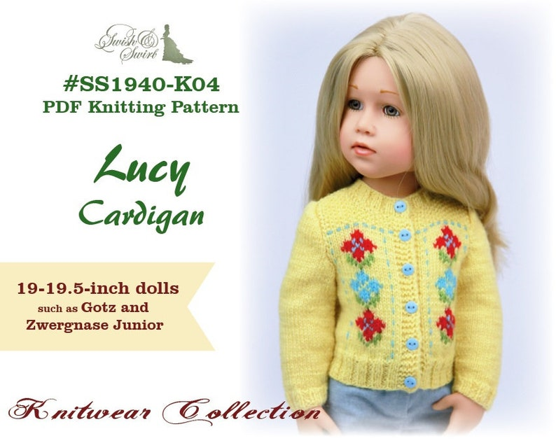 PDF Knitting Pattern SS1940-K04. Lucy Cardigan for image 0