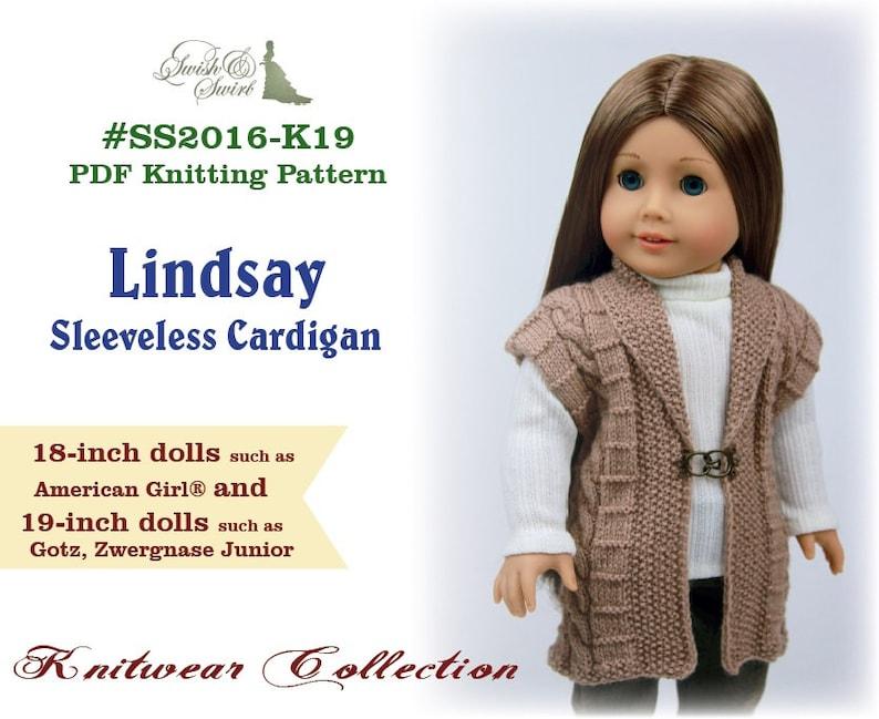 PDF Knitting Pattern SS2016-K19. Lindsay Sleeveless Cardigan image 0