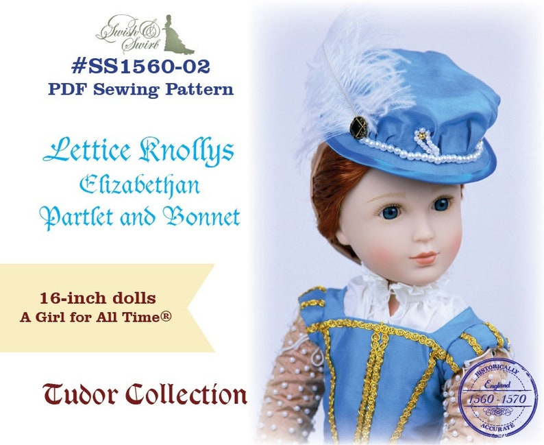 PDF Pattern SS1560-02. Lettice Knollys Elizabethan Partlet image 0