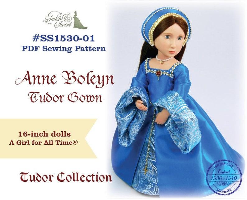 PDF Pattern SS1530-01. Anne Boleyn Tudor Gown for A Girl for image 0