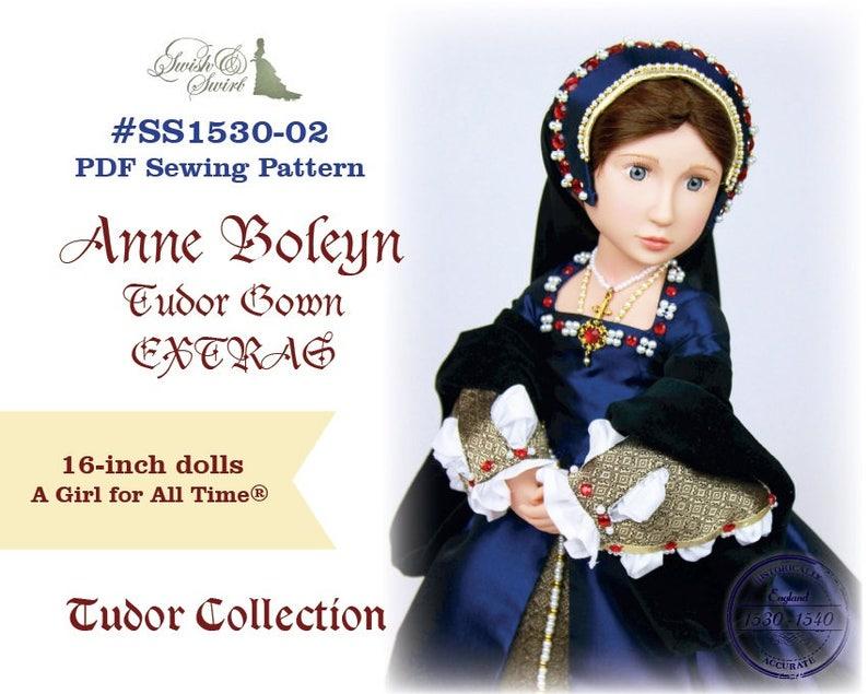 PDF Pattern SS1530-02. Anne Boleyn Tudor Gown EXTRAS for A image 0