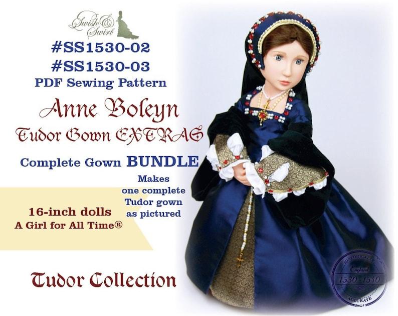 PDF Pattern Bundle SS1530-02 & SS1530-03. Anne Boleyn Tudor image 0