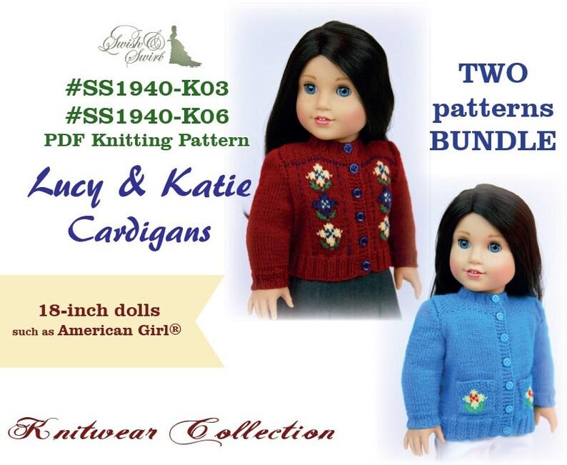 PDF Knitting Pattern Bundle SS1940-K03 & SS1940-K06. Lucy image 0