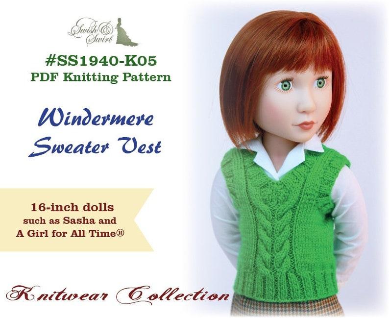 PDF Knitting Pattern SS1940-K05. Windermere Sweater Vest for image 0