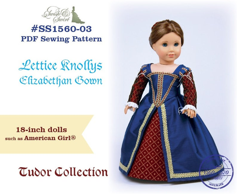 PDF Pattern SS1560-03. Lettice Knollys Elizabethan Gown for image 0