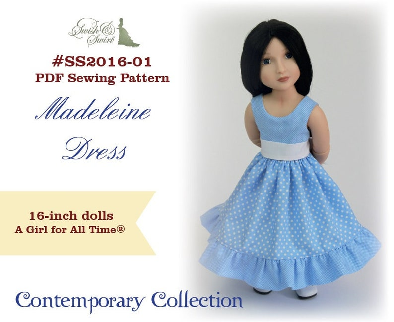 PDF Pattern SS2016-01. Madeleine dress for A Girl for All image 0