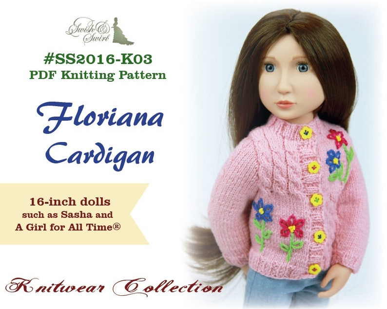 PDF Knitting Pattern SS2016-K03. Floriana Cardigan for image 0