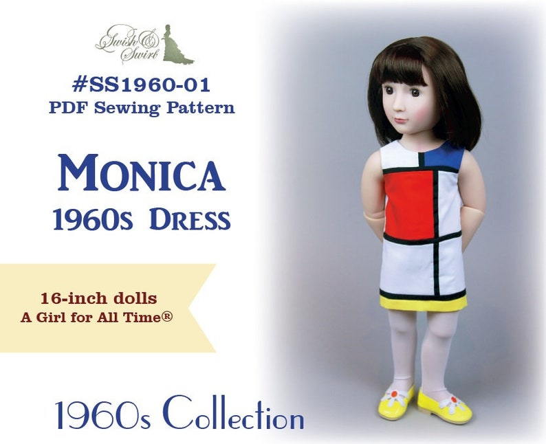 PDF Pattern SS1960-01. Monica 1960s dress for A Girl for All image 0