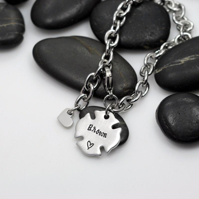 Firefighter Custom Jewelry Personalized Name Bracelet Maltese Cross