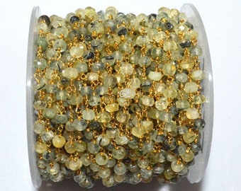 Brand New Finest Quality MOSS PREHNITE Faceted 3D Box 8-9mm Long,Superb Item at Low Price Full 8 Inch Long Strand