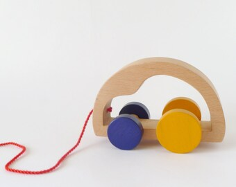 Wooden toy car,pull toy for toddlers, eco friendly car toy
