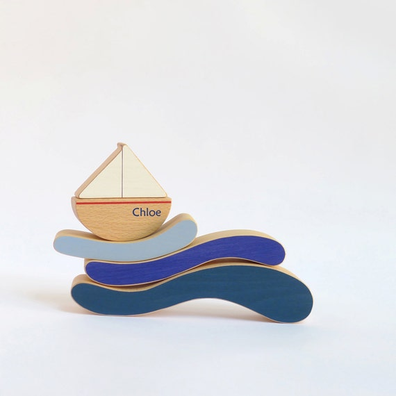 juguete de madera personalizado barquito de juguete juego de etsy