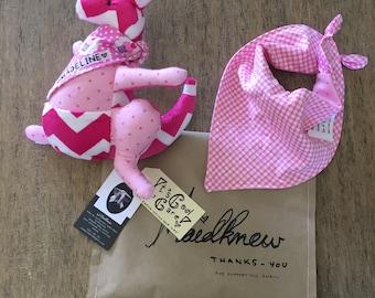 Customised Kangaroo teddy rattle: proceeds to worthy causes