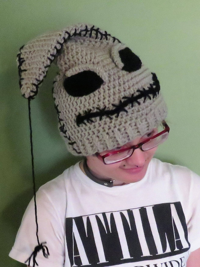 dbb45672e3fd8 Crochet Nightmare Before Christmas Inspired Oogie Boogie Hat