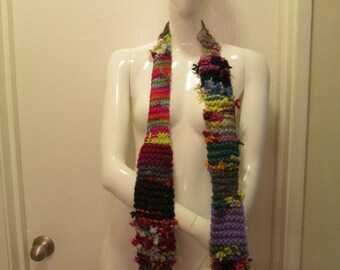 Abstract Recycled Scrap Scarf #2