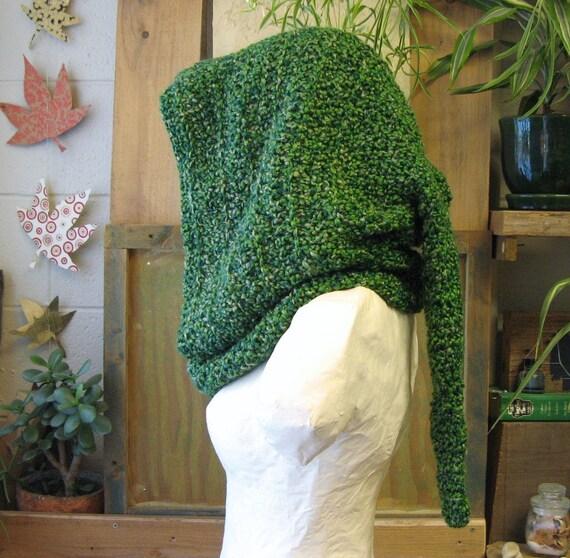 Green Leaf Elfenwald Kapuze mittelalterliche häkeln Kapuze | Etsy