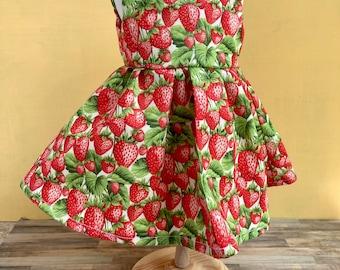 Sweet Strawberry Dress for 18 inch Dolls