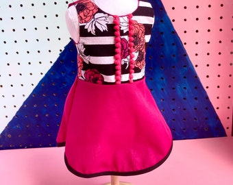 Floral dress for 18 inch dolls such as American Girl and Our Generation Dolls