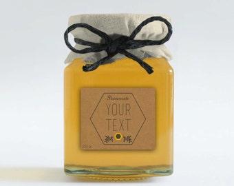 Custom honey labels, Honey favors, Honey wedding favor, Printable honey tags, Printable honey stickers, Honey tags, Custom Honey packaging