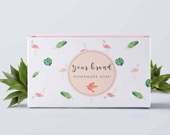 Custom printable box template, Printable box package, Custom soap box, Custom printable soap packaging, Custom packaging box, Custom label