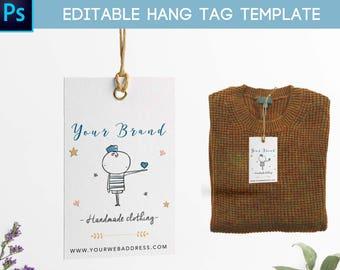 Hang tag template clothing label, Printable hang tags, Editable hang tags label, Printable clothing labels, Clothing tags, Hang tag digital