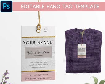 hang tag custom clothing label printable custom labels for etsy