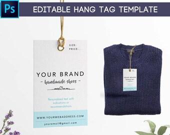 Custom clothing labels, Printable hang tags, Editable hang tags label, Printable clothing labels, Clothing tags, Hang tag digital PSD