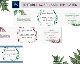 Customizable soap label, Editable soap label, Printable Soap label download, Soap label wrap, Soap label printable, Soap label digital PSD