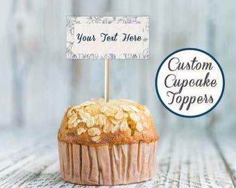 Printable custom cupcake toppers, Cupcake topper baby shower, Cupcake toppers wedding, Cupcake toppers birthday, Cupcake toppers bridal