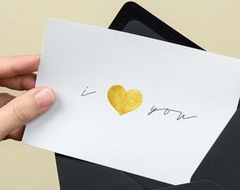 I love you printable postcard , I love you Card, Printable I love you card, Greetings postcards, Printable postcards, Love cards