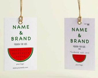 Hang tag custom clothing label, Printable Custom labels for clothes, Custom clothes tags, Price tags, Sewing hang tags, Hang tag design