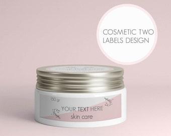 Custom cosmetics packaging, Custom cosmetic labels, Printable cosmetic packaging, Custom cosmetic tags, Labels skin care, Labels lip balm
