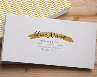 Custom business card, One Side Personalized business card, Printable business card, Business card template, Printable calling card, Digital