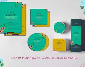 Custom cosmetics packaging, Printable Cometic labels, Printable custom product packaging, Custom packaging design, Cosmetic labels design