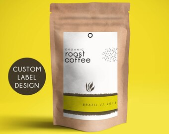 Custom coffee packaging, Personalized coffee bag label, Custom coffee packaging, Printable tea packaging, Digital coffee packaging printable