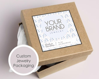 Printable Jewelry packaging custom stickers, Packaging label for jewelry box, Packaging design jewellery, Packaging supply, Jewelry template