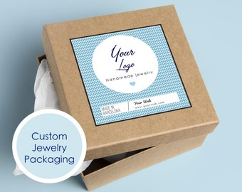 Printable jewelry packaging, Custom jewelry label, Custom jewelry packaging, Custom printable jewelry sticker, Jewelry box personalized
